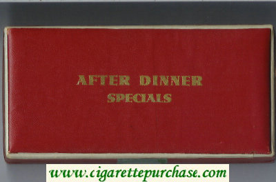 After Dinner Specials cigarettes USA