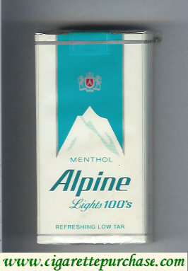 Discount Alpine Menthol Lights 100s cigarettes