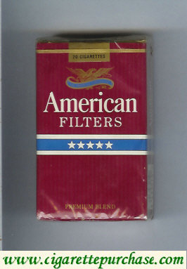 American filters red cigarettes