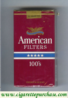 American Filters 100s cigarettes USA