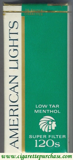 American Lights 120's Menthol Cigarettes Super Filter Low Tar