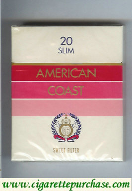 American Coast Sweet Filter cigarettes USA