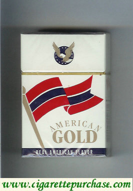 American Gold Cigarettes hard box Colombia