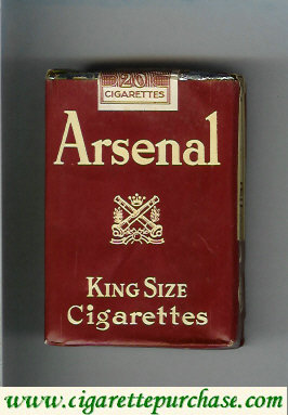 Arsenal king size cigarettes holland