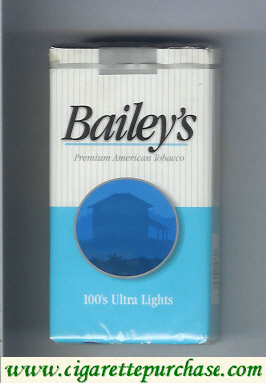 Bailey's 100s Ultra Lights cigarettes