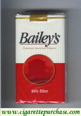 Bailey's Filter 100s cigarettes