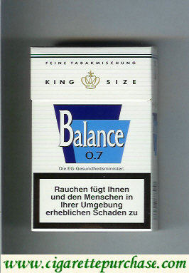 Balance white cigarettes king size