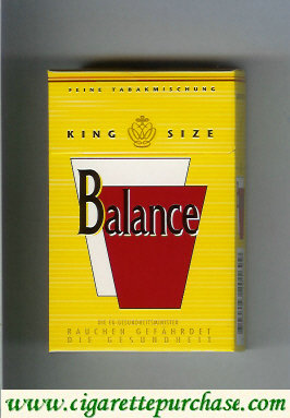Balance yellow cigarettes king size