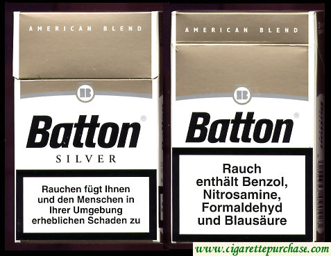 Batton Silver cigarettes American Blend