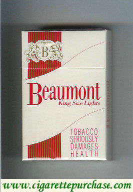 Beaumont cigarettes king size lights
