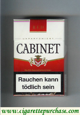 Cabinet Red cigarettes