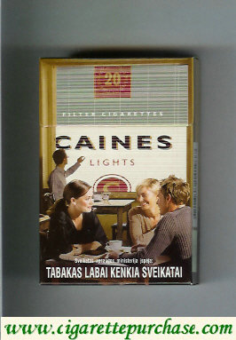 Caines Lights cigarettes collection version