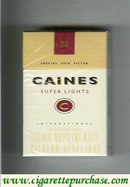 Caines Super Lights cigarettes