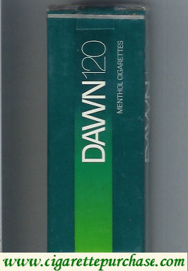 Dawn Menthol 120s cigarettes soft box