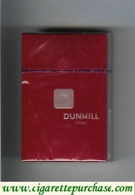 Dunhill D Filter cigarettes hard box