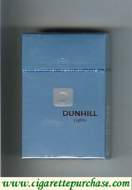 Dunhill D Lights cigarettes hard box