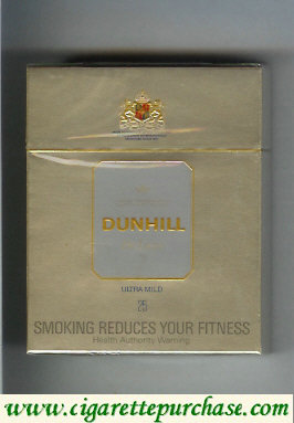 Dunhill De Luxe Ultra Mild 25 Cigarettes hard box