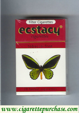 Ecstacy white and red 20 herbal cigarettes hard box