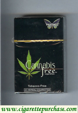 Ecstacy Cannabis Free black 20 herbal cigarettes hard box