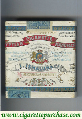 Egyptian Cigarette Manufactory cigarettes wide flat hard box
