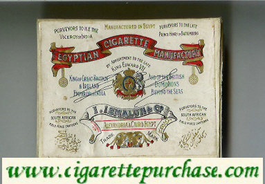 Egyptian Cigarette Manufactory Short Size cigarettes wide flat hard box