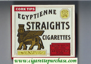 Egyptienne Straights cigarettes wide flat hard box