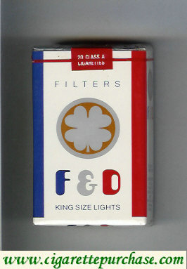F&D F and D Filters King Size Lights cigarettes soft box
