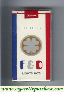 F&D F and D Filters Lights 100s cigarettes soft box