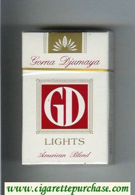 GD Gorna Djumaya Lights American Blend white and red cigarettes hard box