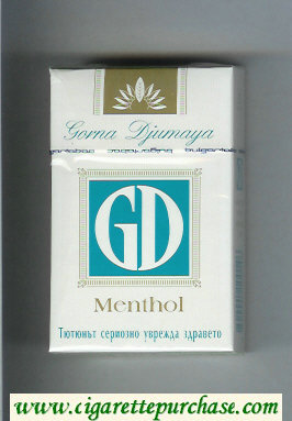 GD Menthol white and green cigarettes hard box