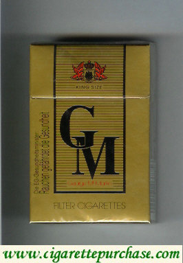 GM Gorge McMartin cigarettes hard box