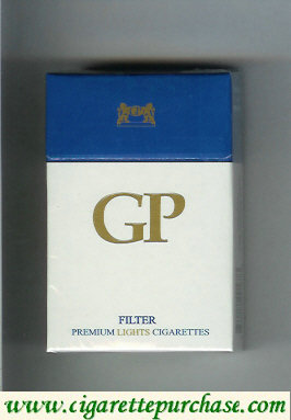 GP Filter premium Lights cigarettes hard box