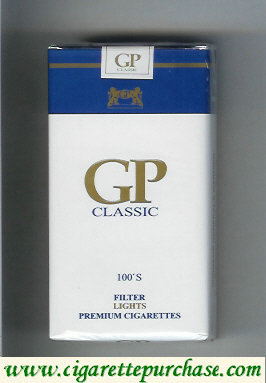GP Classic 100s Filter Lights premium cigarettes soft box