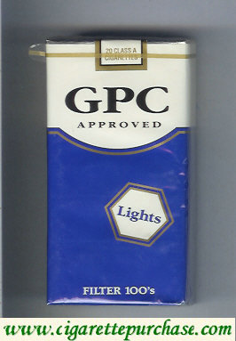 GPC Approved Lights Filter 100s Cigarettes soft box