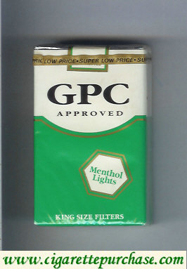 GPC Approved Menthol Lights King Size Filters Cigarettes soft box