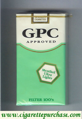 GPC Approved Menthol Ultra Lights Filter 100s Cigarettes soft box