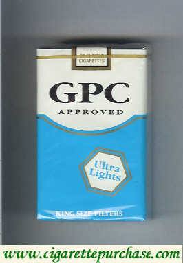 GPC Approved Ultra Lights King Size Filters Cigarettes soft box