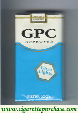 GPC Approved Ultra Lights Filter 100s Cigarettes soft box