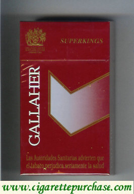 Gallaher SuperKings 100s cigarettes hard box