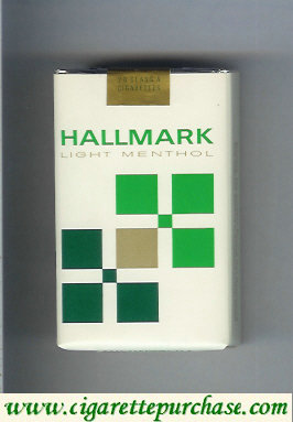 Hallmark Light Menthol white and green cigarettes soft box
