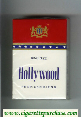 Hollywood American Blend cigarettes hard box