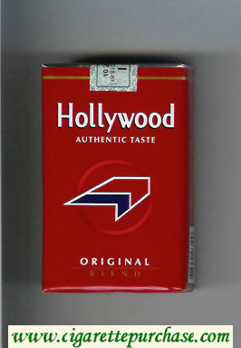 Hollywood Authentic Taste Original Blend cigarettes soft box