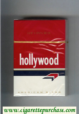 Hollywood cigarettes American Blend hard box