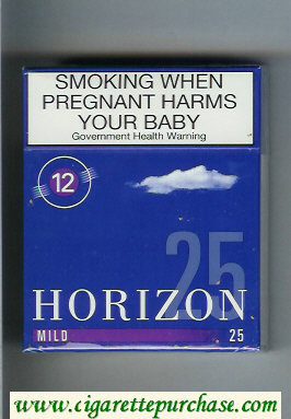 Horizon 12 Mild blue 25s cigarettes hard box