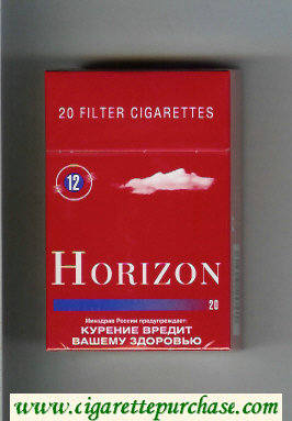 Horizon 12 red cigarettes hard box