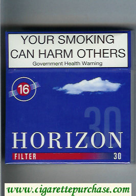 Horizon 16 Filter blue 30s cigarettes hard box