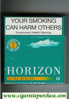 Horizon 2 Ultra Menthol green 50s cigarettes hard box