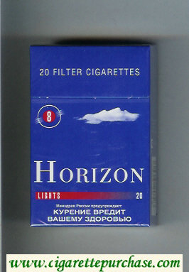 Horizon 8 Lights blue cigarettes hard box