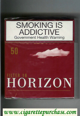 Horizon Filter 16 brown 50s cigarettes hard box