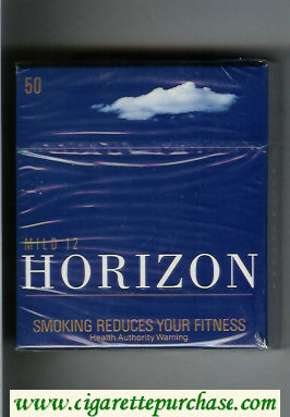 Horizon Mild 12 blue 50s cigarettes hard box